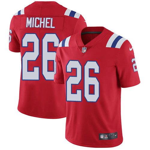 Youth Nike Patriots #26 Sony Michel Red Alternate Stitched NFL Vapor Untouchable Limited Jersey