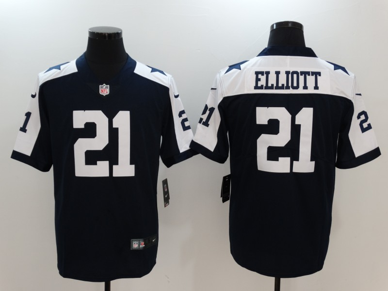 Youth Nike Cowboys 21 Ezekiel Elliott Navy Throwback Vapor Untouchable Player Limited Jersey
