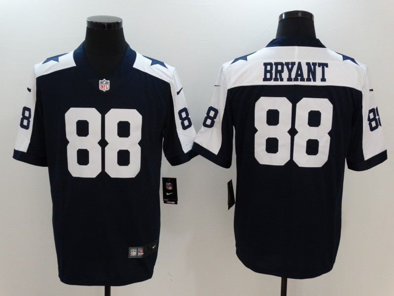 Youth Nike Cowboys 88 Dez Bryant Navy Throwback Vapor Untouchable Player Limited Jersey