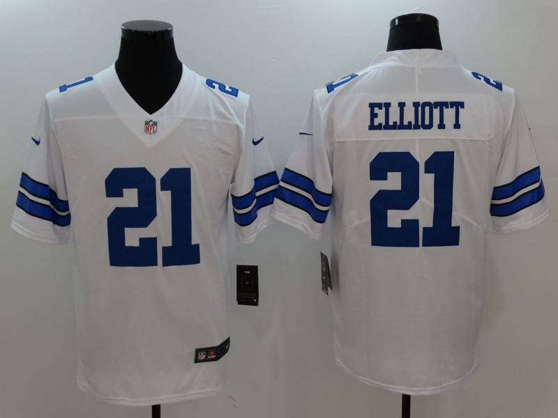 Youth Nike Cowboys 21 Ezekiel Elliott White Vapor Untouchable Player Limited Jersey