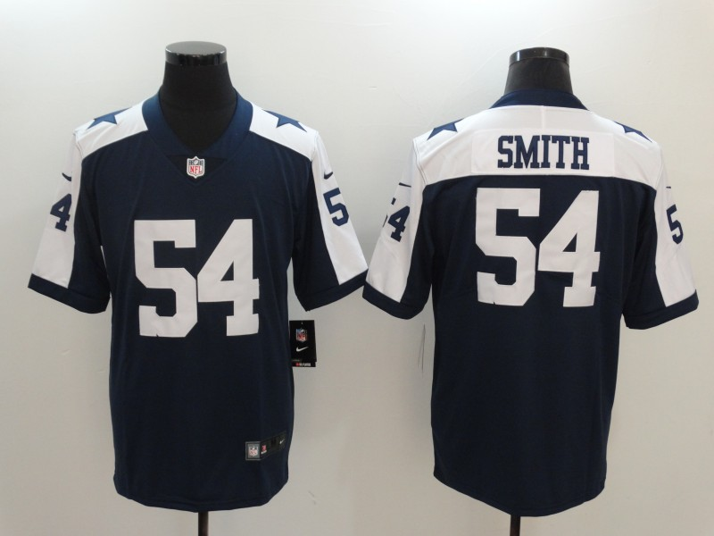 Youth Nike Cowboys 54 Jaylon Smith Navy Throwback Vapor Untouchable Limited Player Jersey