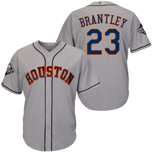 Astros #23 Michael Brantley Grey New Cool Base 2019 World Series Bound Stitched Baseball Jersey