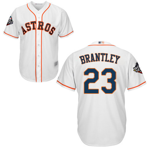 Astros #23 Michael Brantley White New Cool Base 2019 World Series Bound Stitched Baseball Jersey