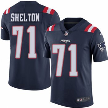 Men's Nike New England Patriots #71 Danny Shelton Limited Navy Blue Rush Vapor Untouchable NFL Jersey
