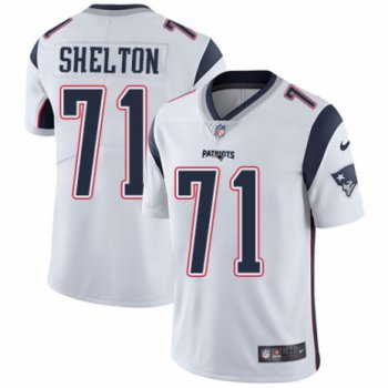 Men's Nike New England Patriots #71 Danny Shelton White Vapor Untouchable Limited Player NFL Jersey