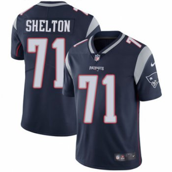 Men's Nike New England Patriots #71 Danny Shelton Navy Blue Team Color Vapor Untouchable Limited Player NFL Jersey