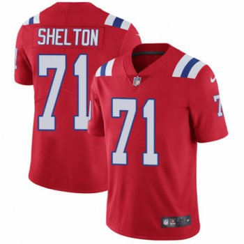 Men's Nike New England Patriots #71 Danny Shelton Red Alternate Vapor Untouchable Limited Player NFL Jersey