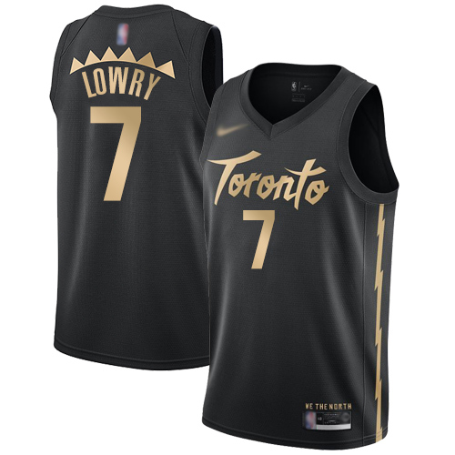 Raptors #7 Kyle Lowry Black Basketball Swingman City Edition 2019-20 Jersey
