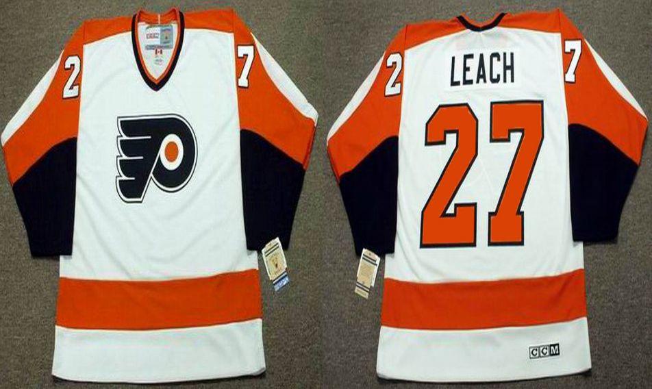 Philadelphia Flyers #27 REGGIE LEACH 1974 CCM Vintage Throwback Home Jersey