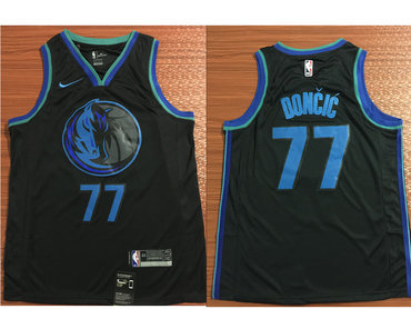 Nike Dallas Mavericks #77 Luka Doncic Black 2018-19 NBA Swingman City Edition Jersey