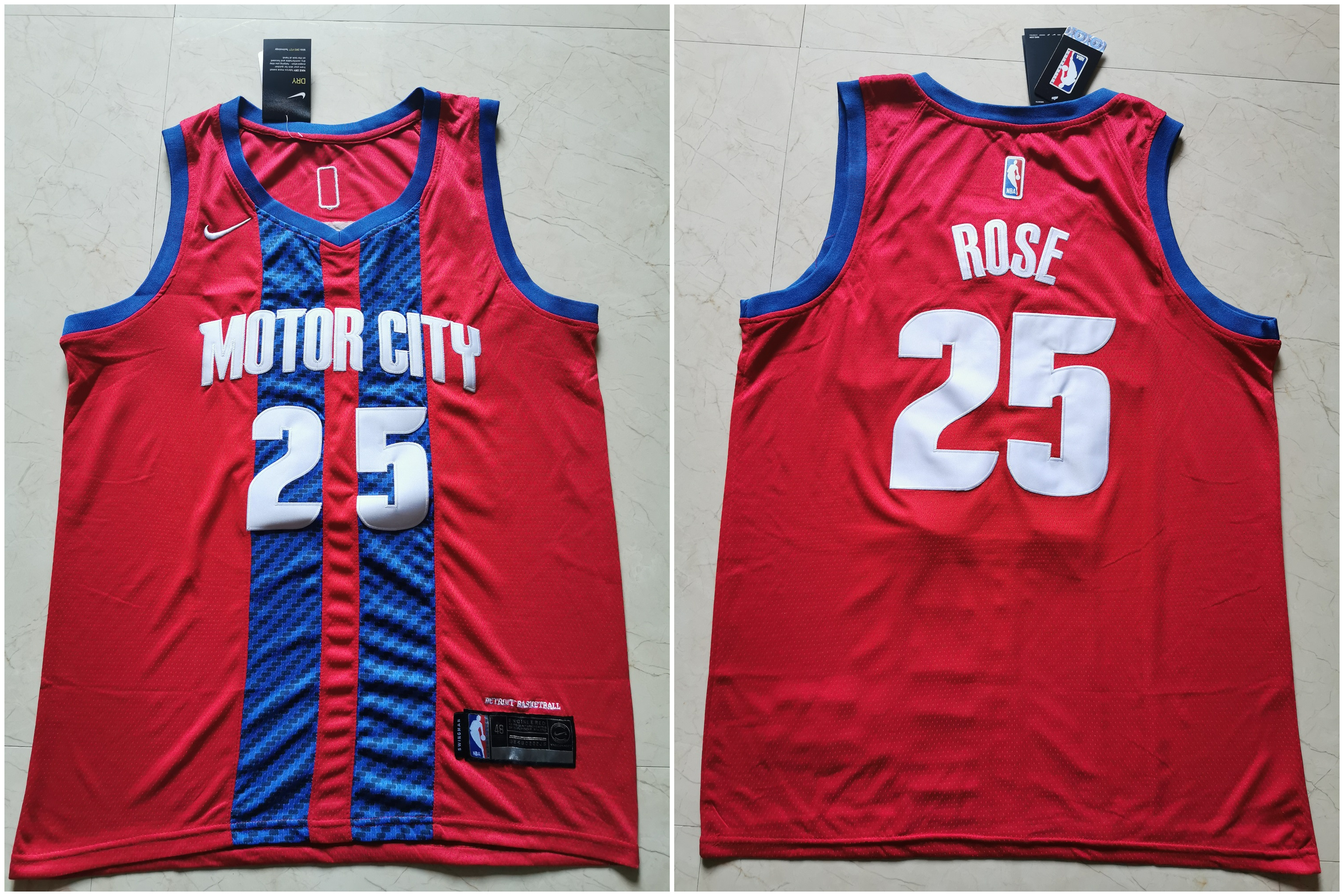 76ers #25 Ben Simmons Red 2019-20 City Edition Nike Swingman Jersey