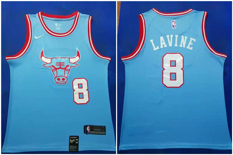 Bulls #8 Zach Lavine Blue 2019-20 City Edition Nike Swingman Jersey