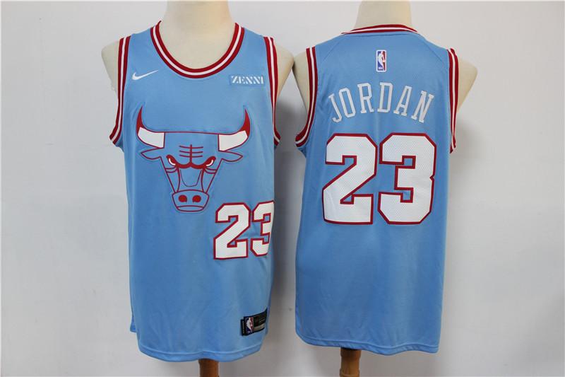 Bulls #23 Michael Jordan Light Blue 2019-20 City Edition Nike Swingman Jersey