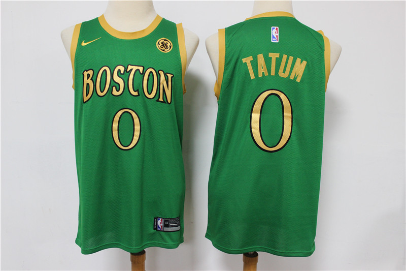 Celtics #0 Jayson Tatum Green 2019-20 City Edition Swingman Jersey