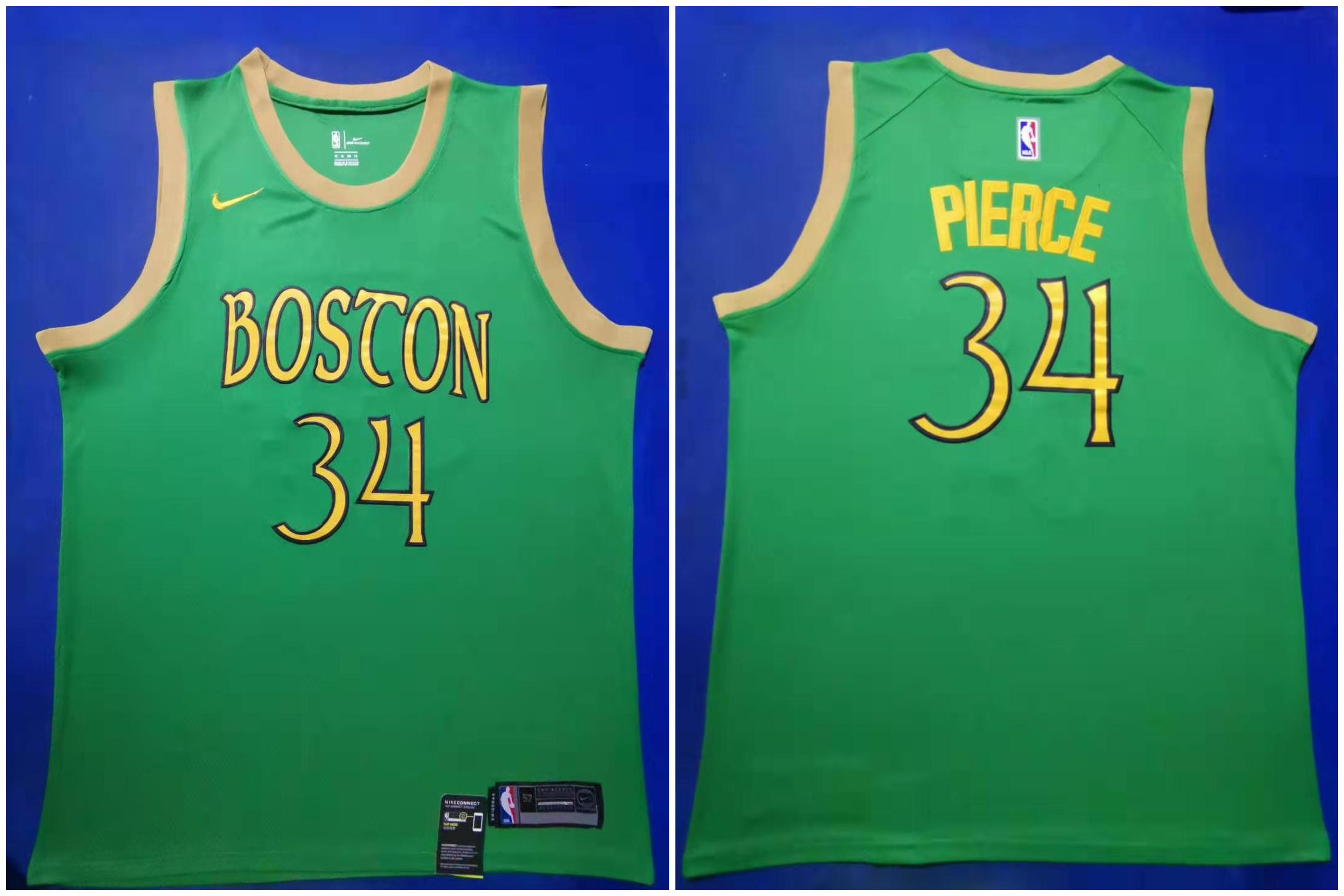 Celtics #34 Paul Pierce Green 2019-20 City Edition Swingman Jersey