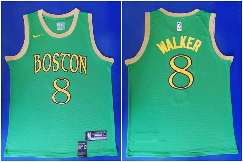 Celtics #8 Kemba Walker Green 2019-20 City Edition Swingman Jersey