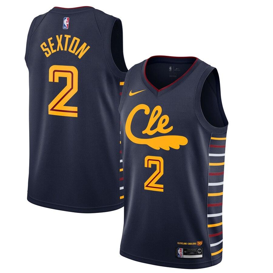 Cavaliers #2 Collin Sexton Black 2019-20 Nike Swingman Jersey
