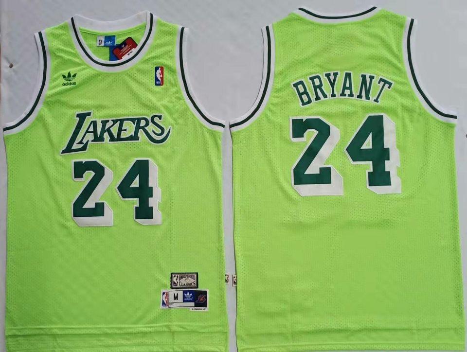 Lakers Bape #24 Kobe Bryant Green Hardwood Classics Mesh Jersey