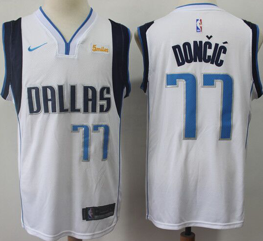 Mavericks #77 Luka Doncic White Nike Swingman Jersey