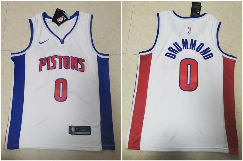 Pistons #0 Andre Drummond White Nike Swingman Jersey