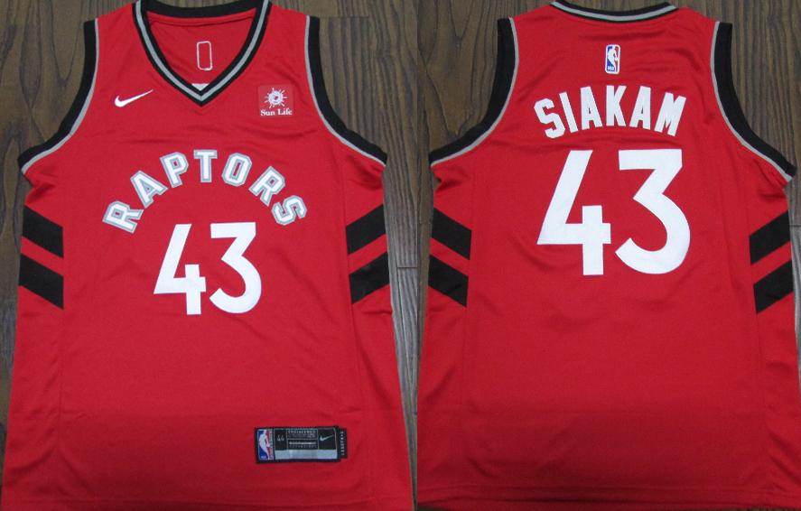 Raptors #43 Pascal Siakam Red Nike Swingman Jersey