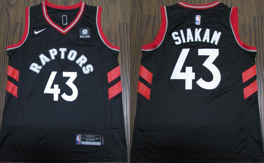 Raptors #43 Pascal Siakam Black Nike Swingman Jersey