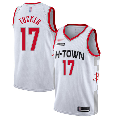 Houston Rockets #17 PJ Tucker White Basketball Swingman City Edition Jersey