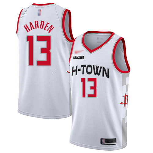 Houston Rockets #13 James Harden White Basketball Swingman City Edition Jersey