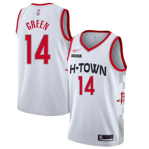 Houston Rockets #14 Gerald Green White Basketball Swingman City Edition Jersey