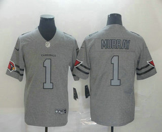 Men's Arizona Cardinals #1 Kyler Murray 2019 Gray Gridiron Vapor Untouchable Stitched NFL Nike Limited Jersey