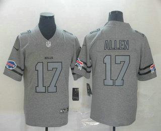 Men's Buffalo Bills #17 Josh Allen 2019 Gray Gridiron Vapor Untouchable Stitched NFL Nike Limited Jersey