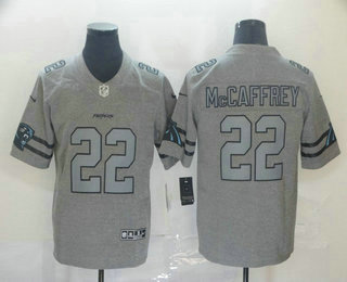 Men's Carolina Panthers #22 Christian McCaffrey 2019 Gray Gridiron Vapor Untouchable Stitched NFL Nike Limited Jersey
