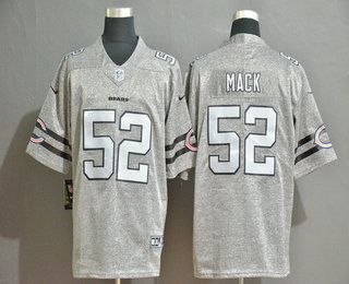 Men's Chicago Bears #52 Khalil Mack 2019 Gray Gridiron Vapor Untouchable Stitched NFL Nike Limited Jersey