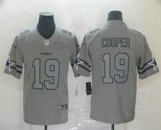 Men's Dallas Cowboys #19 Amari Cooper 2019 Gray Gridiron Vapor Untouchable Stitched NFL Nike Limited Jersey