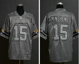 Men's Jacksonville Jaguars #15 Gardner Minshew II 2019 Gray Gridiron Vapor Untouchable Stitched NFL Nike Limited Jersey