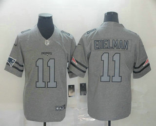 Men's New England Patriots #11 Julian Edelman 2019 Gray Gridiron Vapor Untouchable Stitched NFL Nike Limited Jersey