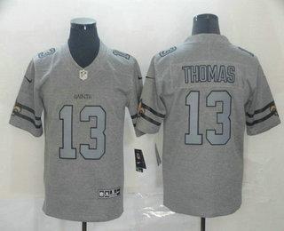 Men's New Orleans Saints #13 Michael Thomas 2019 Gray Gridiron Vapor Untouchable Stitched NFL Nike Limited Jersey