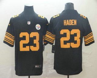 Men's Pittsburgh Steelers #23 Joe Haden Black 2016 Color Rush Stitched NFL Nike Limited Jersey
