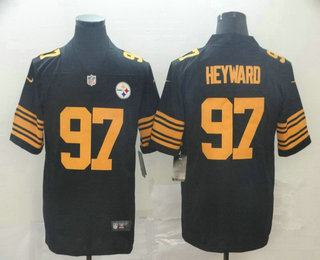 Men's Pittsburgh Steelers #97 Cameron Heyward Black 2016 Color Rush Stitched NFL Nike Limited Jersey