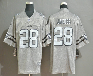 Men's Oakland Raiders #28 Josh Jacobs 2019 Gray Gridiron Vapor Untouchable Stitched NFL Nike Limited Jersey