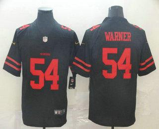 Men's San Francisco 49ers #54 Fred Warner Black 2017 Vapor Untouchable Stitched NFL Nike Limited Jersey