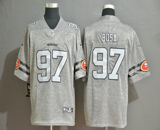 Men's San Francisco 49ers #97 Nick Bosa 2019 Gray Gridiron Vapor Untouchable Stitched NFL Nike Limited Jersey