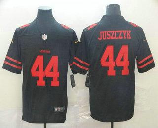 Men's San Francisco 49ers #44 Kyle Juszczyk Black 2017 Vapor Untouchable Stitched NFL Nike Limited Jersey
