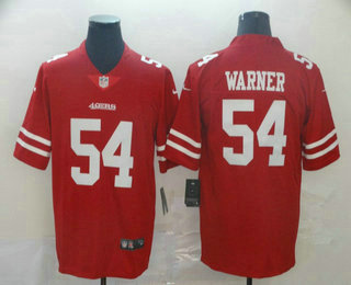 Men's San Francisco 49ers #54 Fred Warner Red 2017 Vapor Untouchable Stitched NFL Nike Limited Jersey