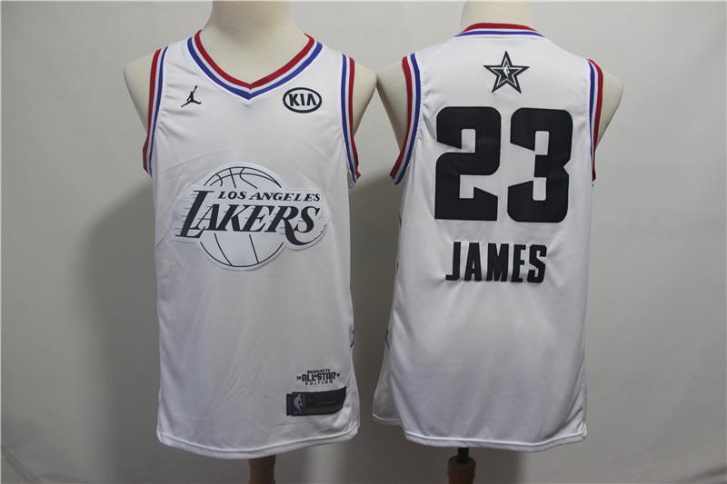 Lakers #23 Lebron James White 2019 NBA All-Star Game Jordan Brand Swingman Jersey