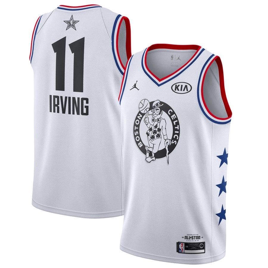 Celtics #11 Kyrie Irving White 2019 NBA All-Star Game Jordan Brand Swingman Jersey