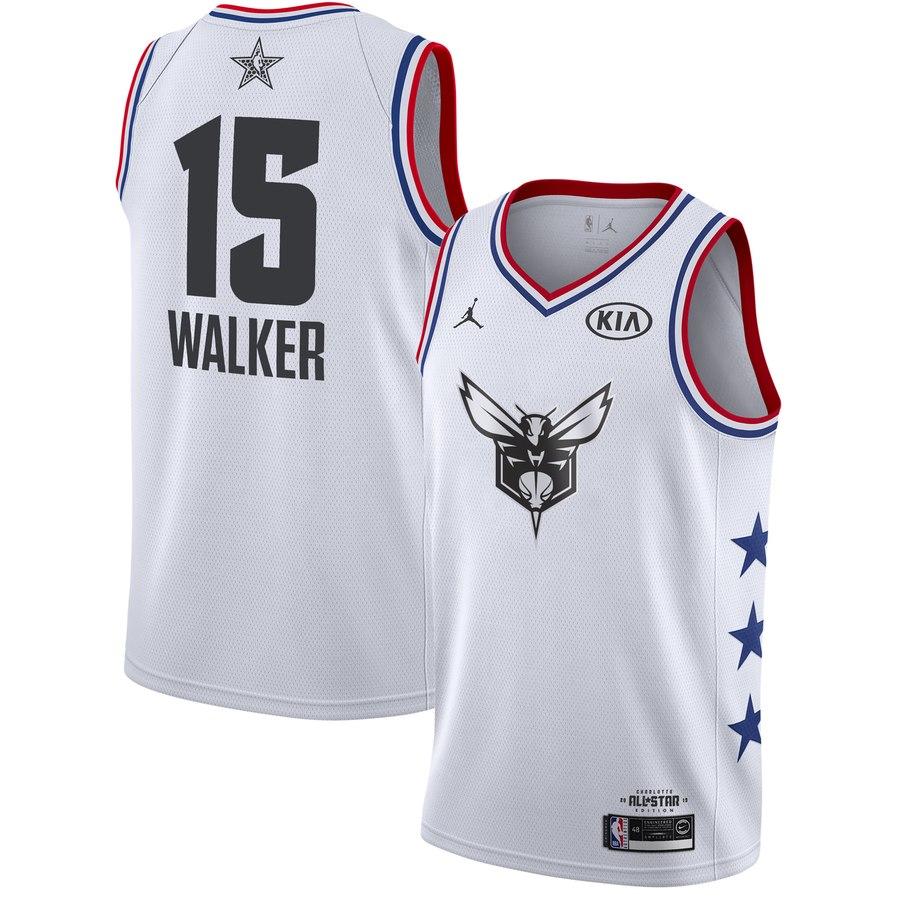 Hornets #13 Kemba Walker White 2019 NBA All-Star Game Jordan Brand Swingman Jersey