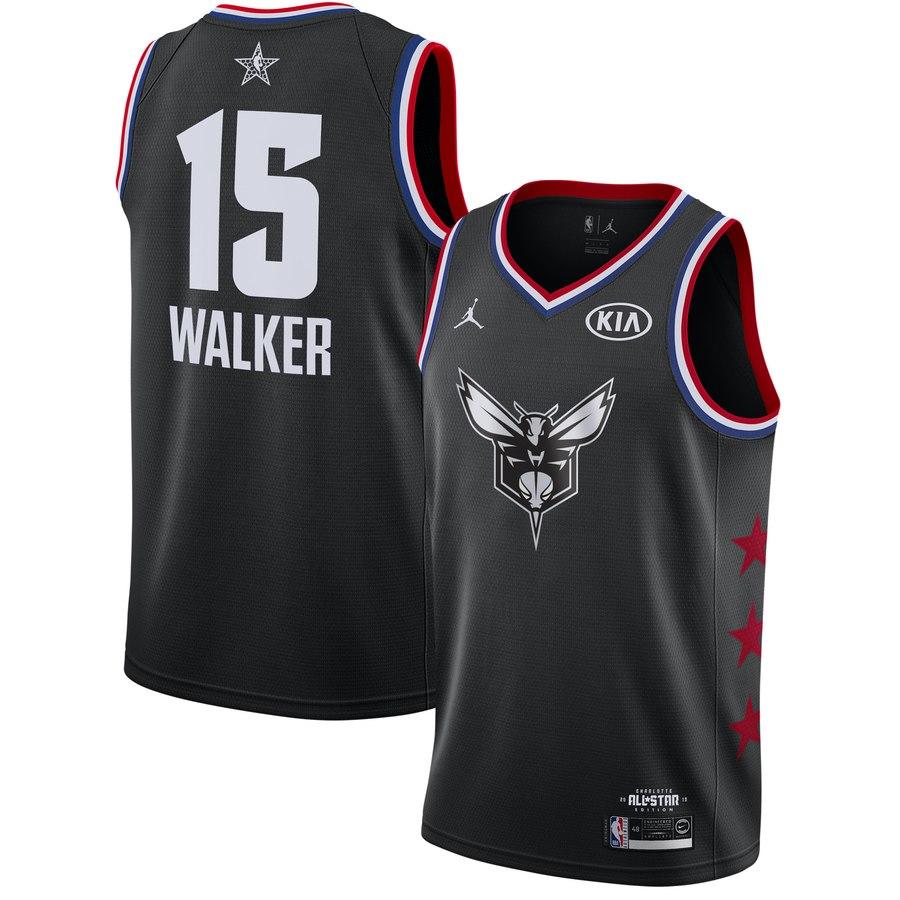 Hornets #13 Kemba Walker Black 2019 NBA All-Star Game Jordan Brand Swingman Jersey