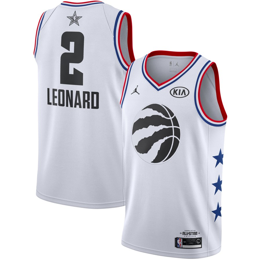 Raptors 32 Kawhi Leonard White 2019 NBA All-Star Game Jordan Brand Swingman Jersey