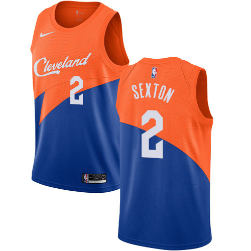 Men's Nike Cavaliers #2 Collin Sexton Blue NBA Swingman City Edition 2018-19 Jersey